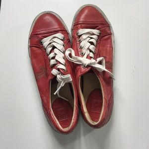 🎈🎈Frye kira low top shoes size 8 red 💥